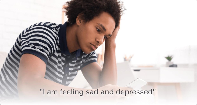 sad and depressed